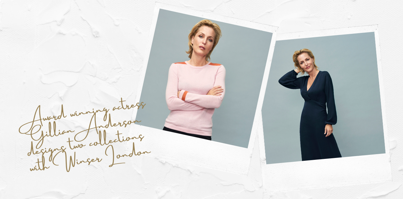 Award winning actress Gillian Anderson designs two collections with Winser London