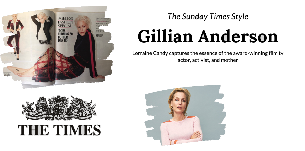 Gillian Anderson in Interview with The Sunday Times Style