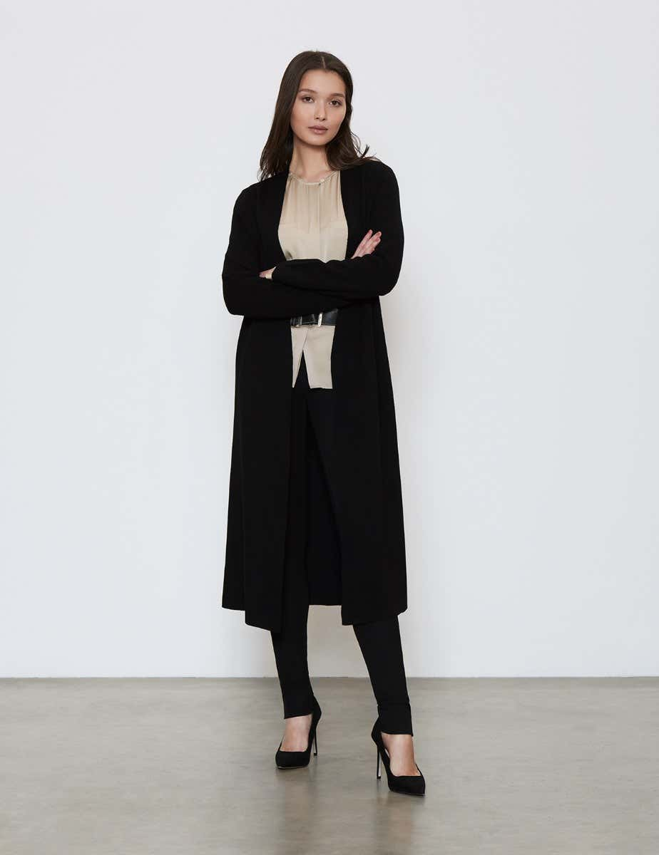 MERINO WOOL CARDIGAN COAT