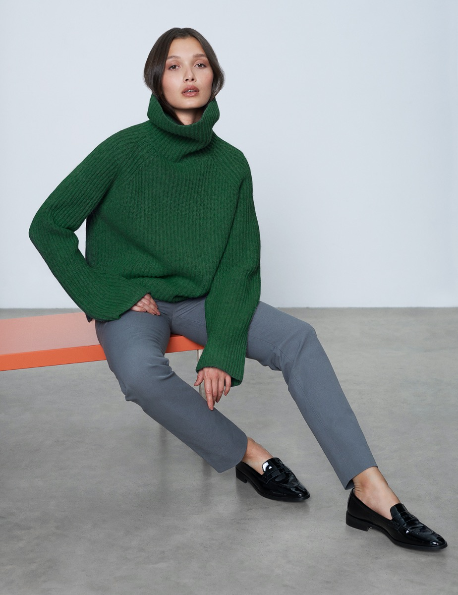 LAUREN RIB ROLL NECK JUMPER