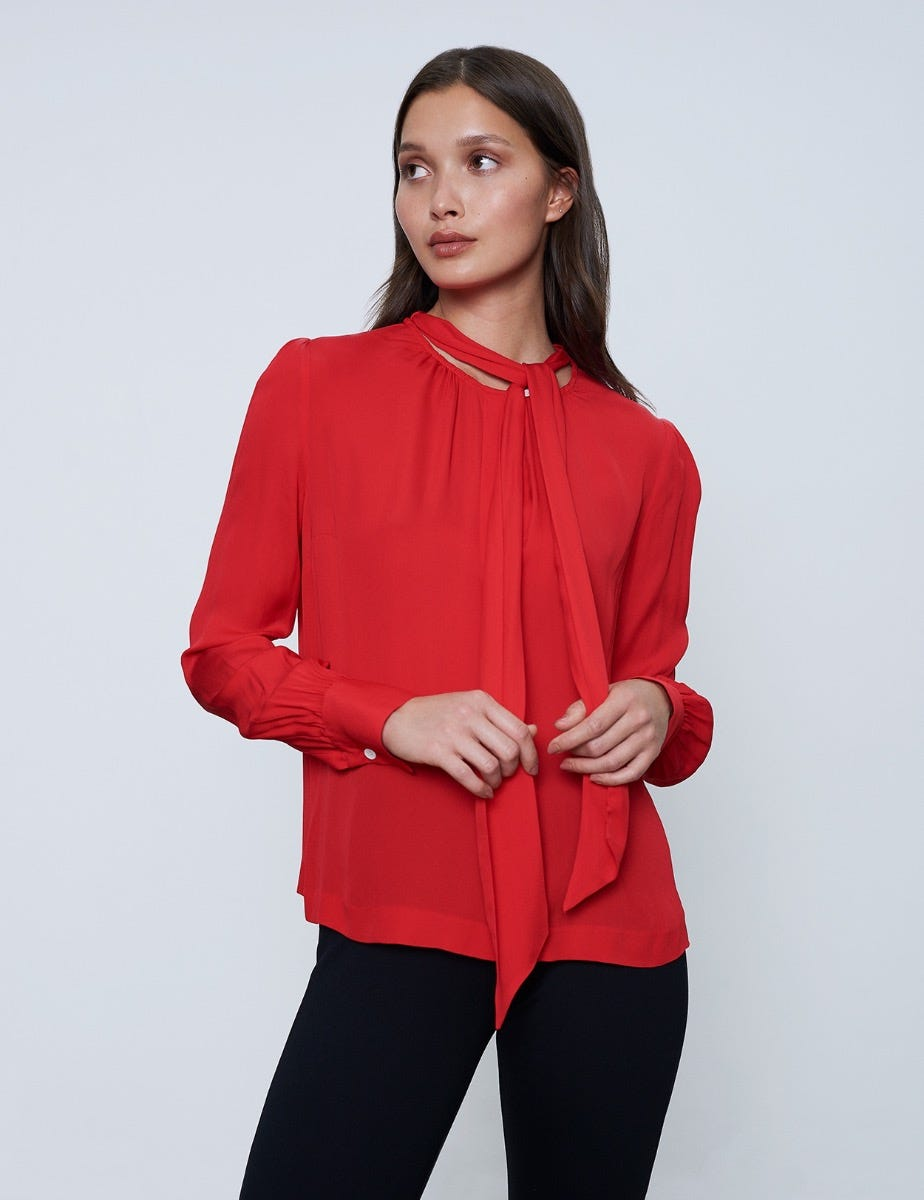 GEORGETTE BLOUSE WITH BOW
