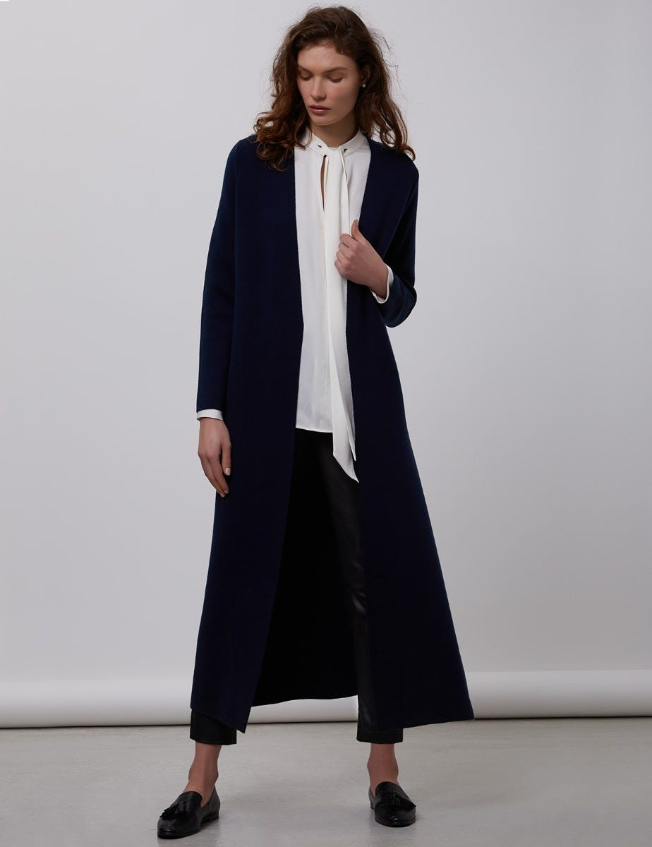 Merino Wool Midi Coat