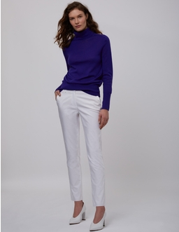 Cotton Twill Capri Trousers