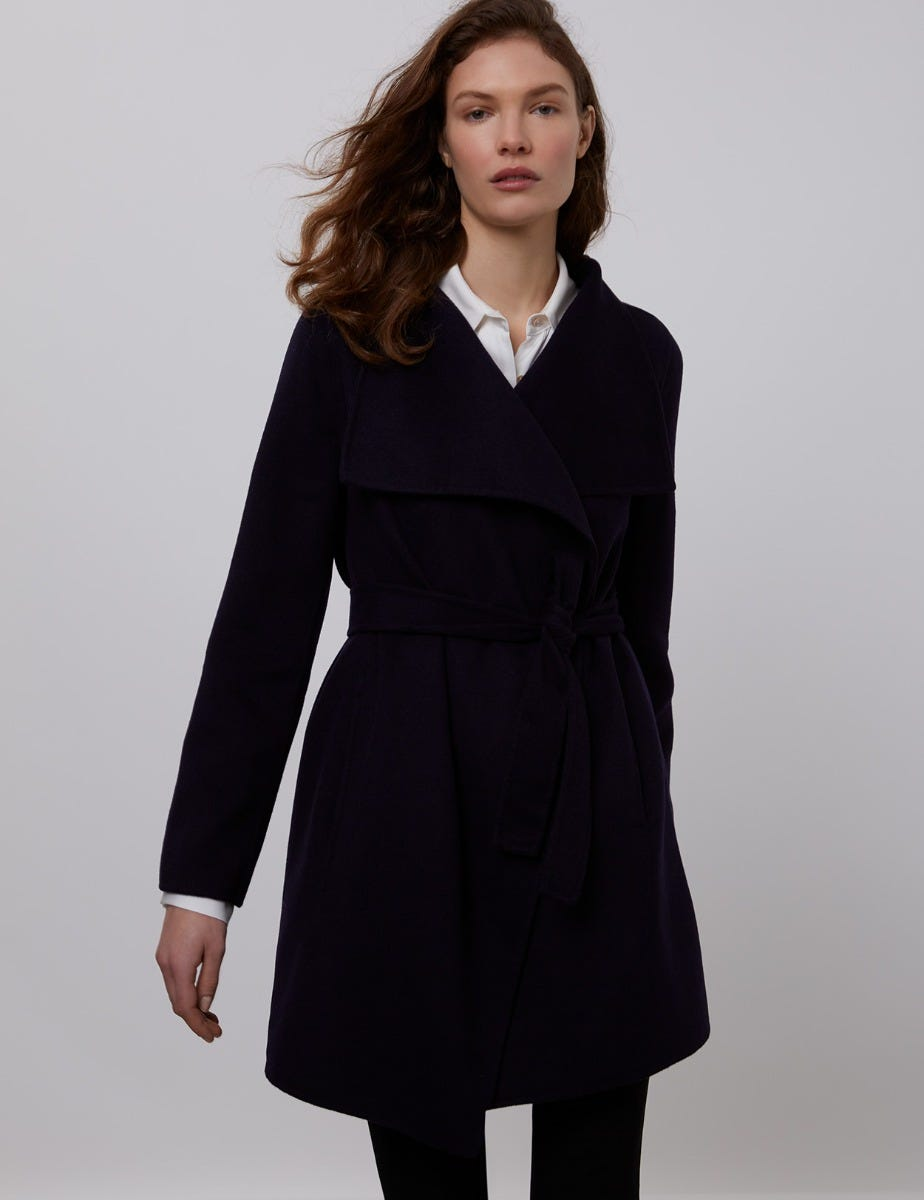 LAUREN SHORT WRAP COAT