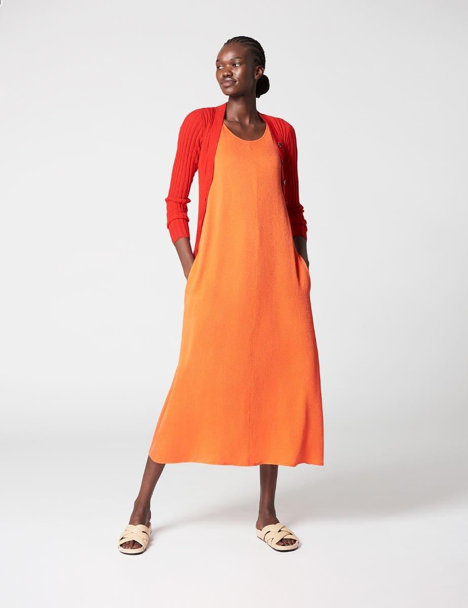 SUMMER SILK A LINE SHIFT DRESS