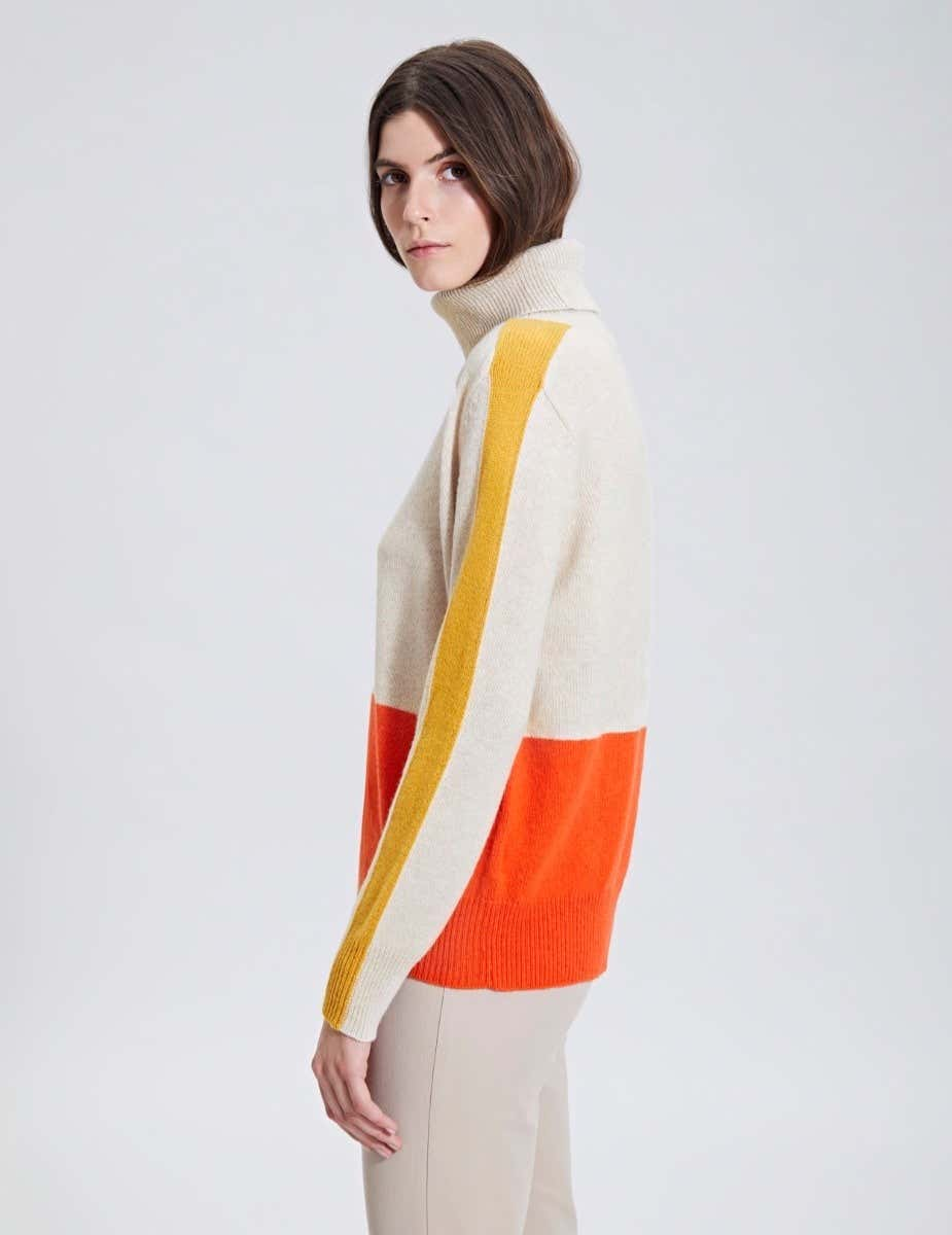 CASUAL COLOUR BLOCK JUMPER