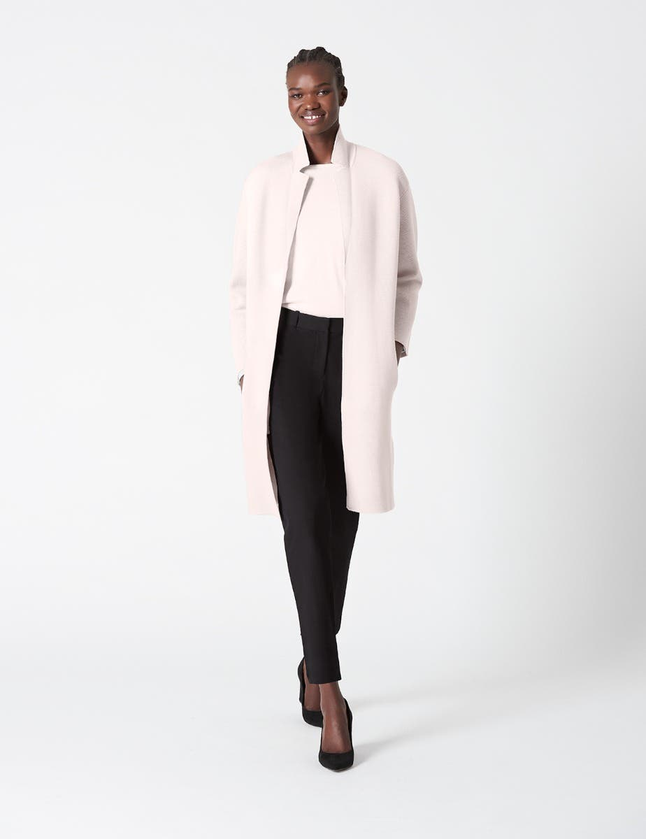 KNITTED WOOL COAT