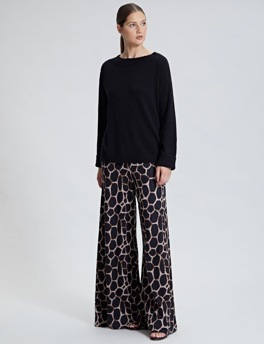 PRINTED PALAZZO WIDE TROUSER