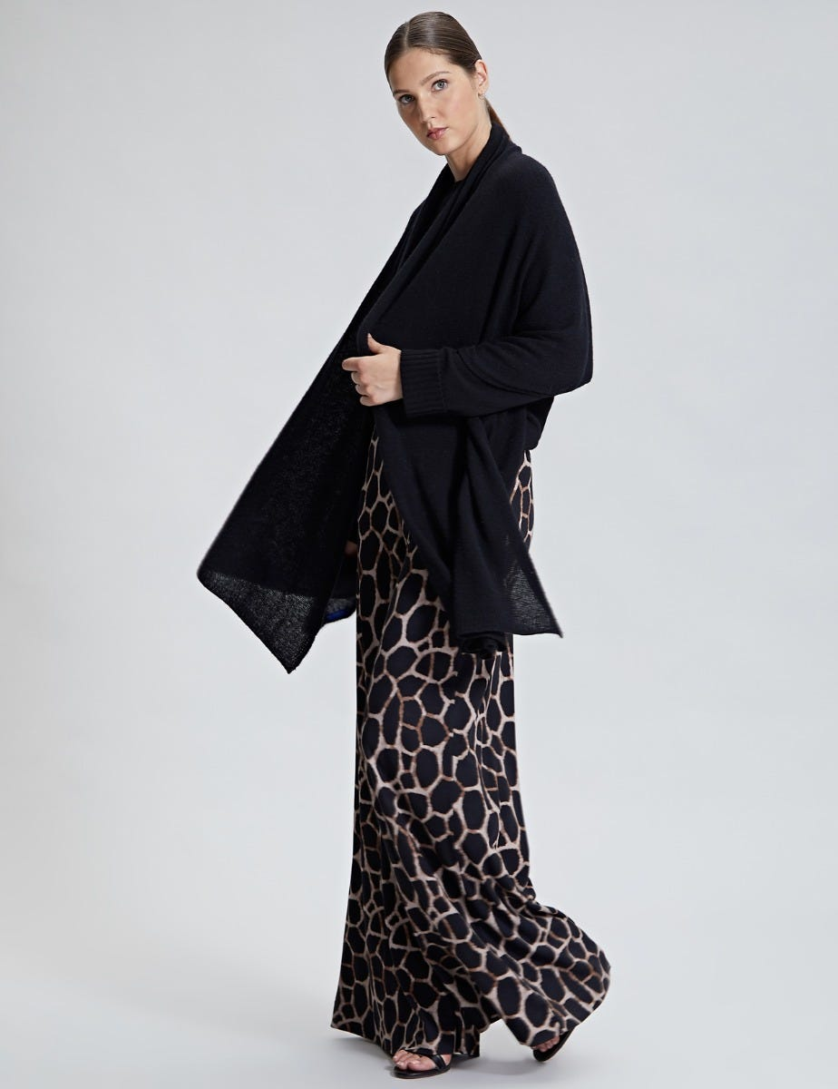 PRINTED PALAZZO WIDE TROUSERS