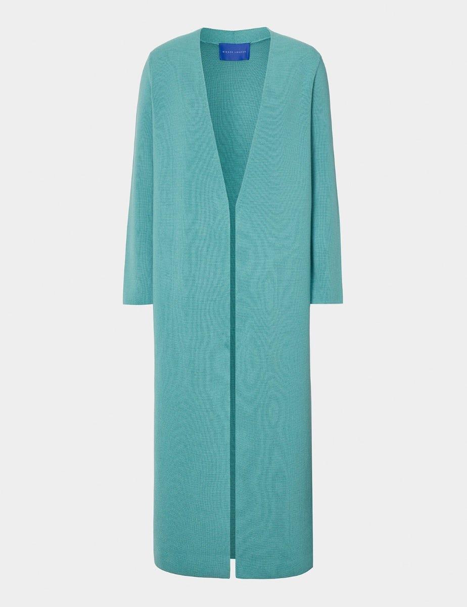 Merino Wool Midi Cardigan Coat