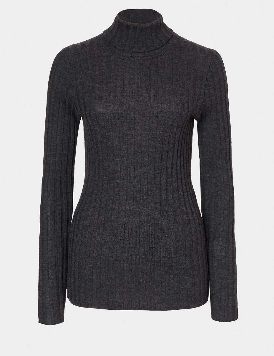 MERINO WOOL RIB JUMPER