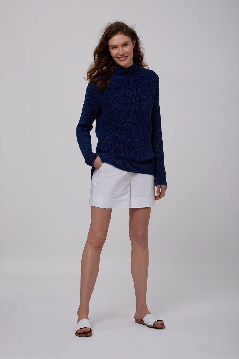 COTTON FISHERMANS CASUAL JUMPER