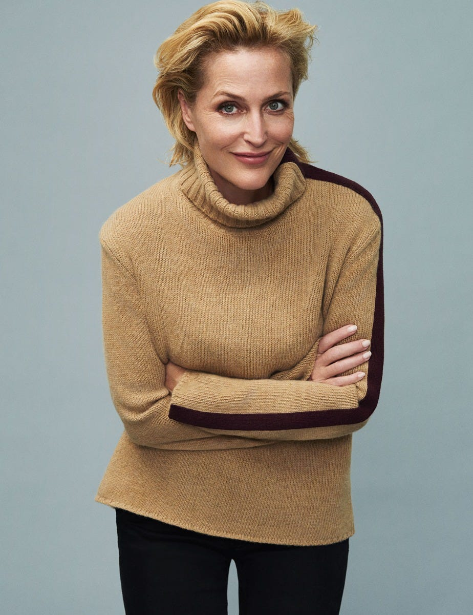 GILLIAN ANDERSON - ROLL NECK JUMPER