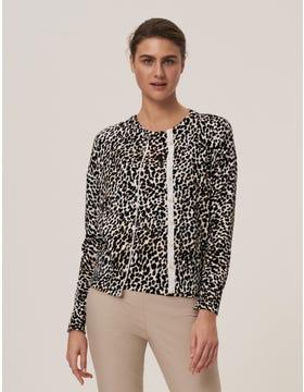 Leopard Cotton Cardigan