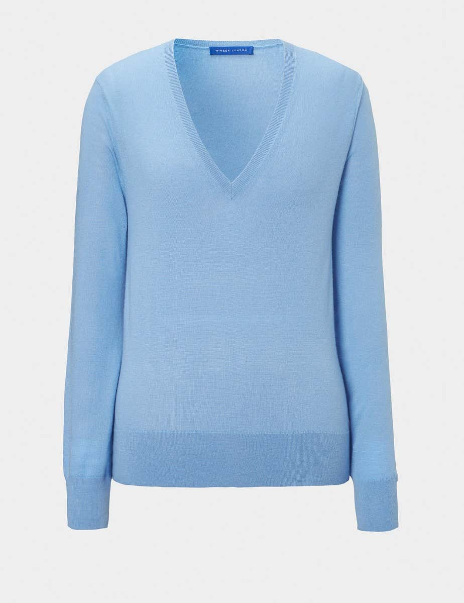 CASHMERE V NECK JUMPER