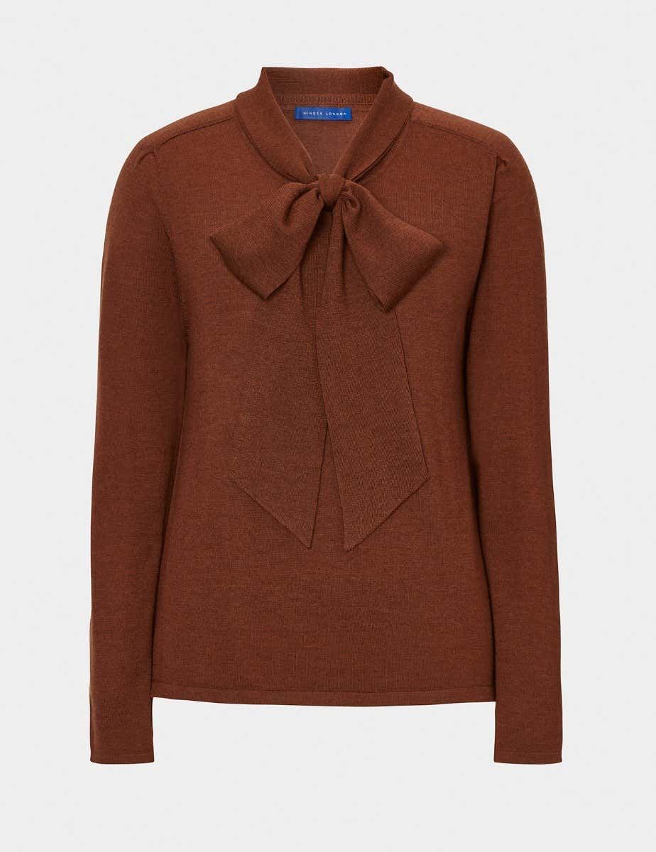 BOW NECK JUMPER