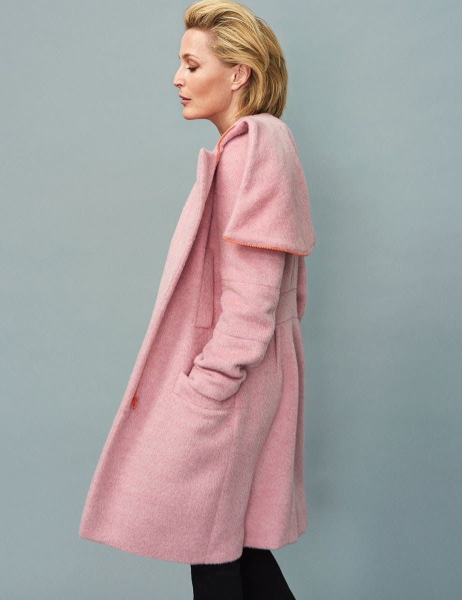 GILLIAN ANDERSON - ALPACA HOODED COAT