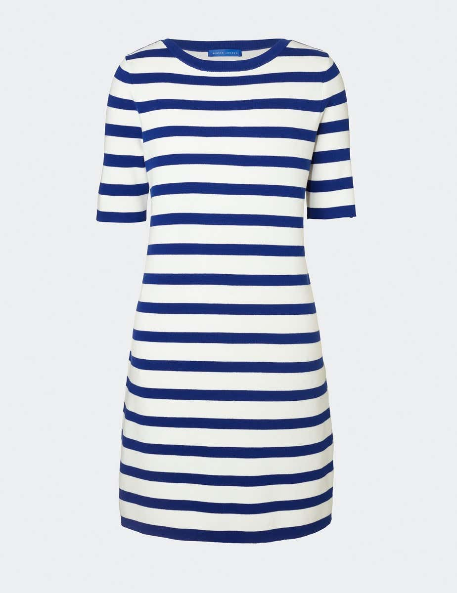 COTTON STRIPED SHIFT DRESS