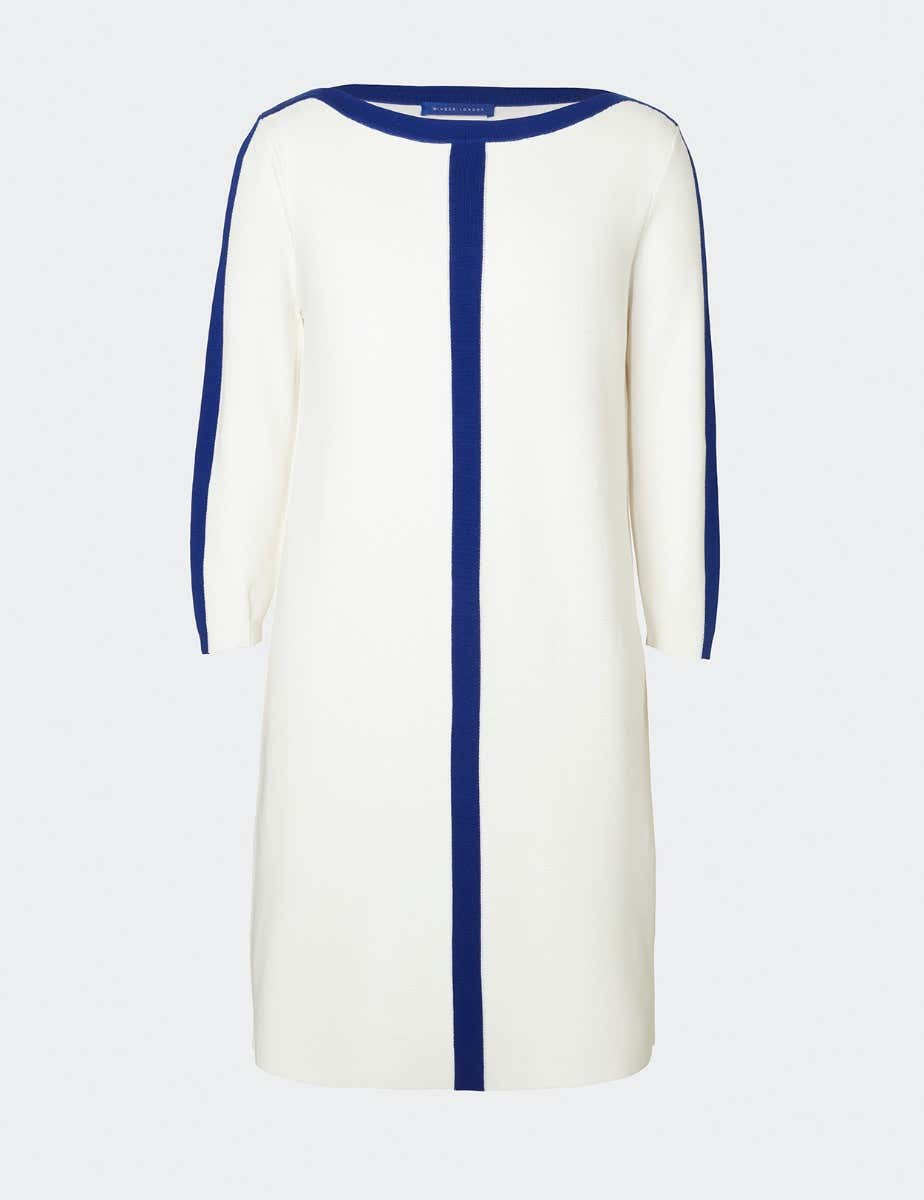 COTTON SHIFT DRESS WITH TRIM