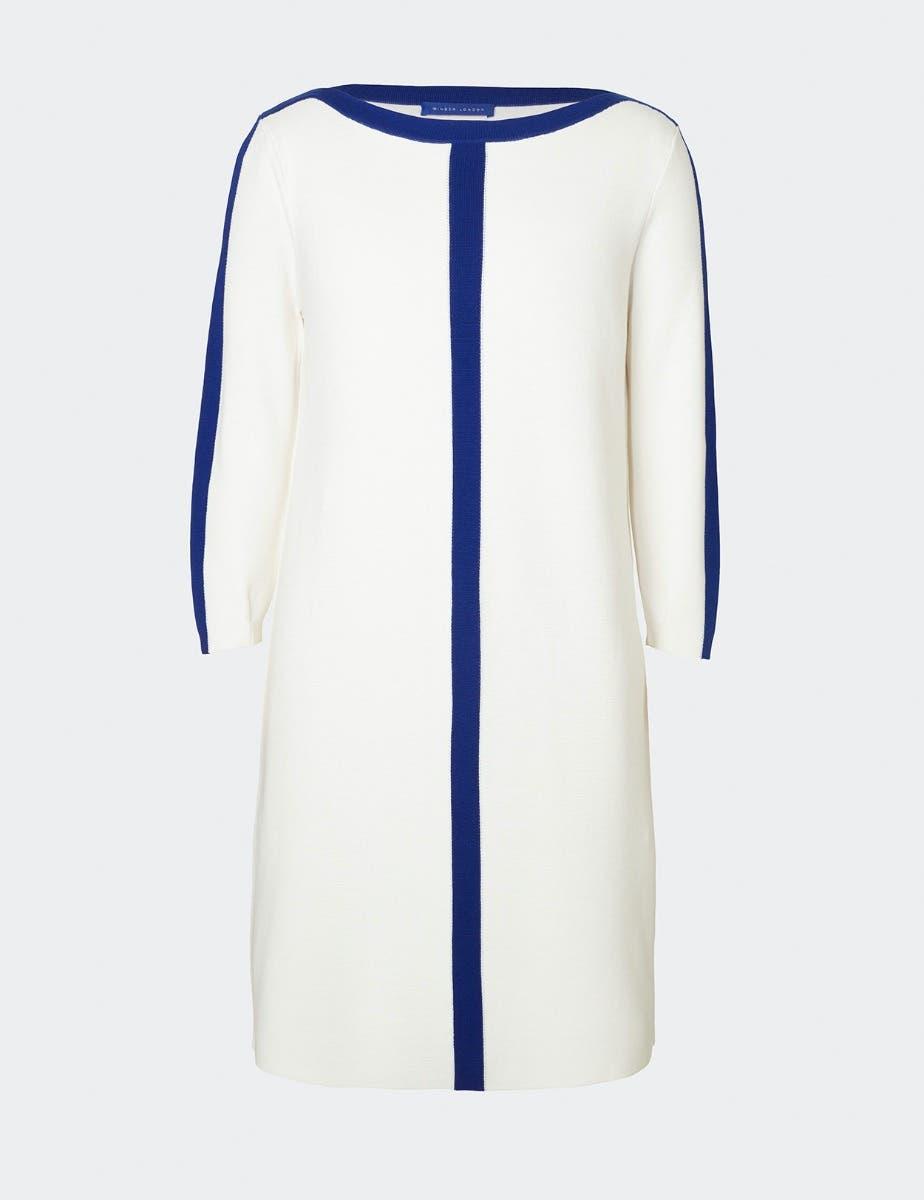 COTTON SHIFT DRESS WITH TRIM