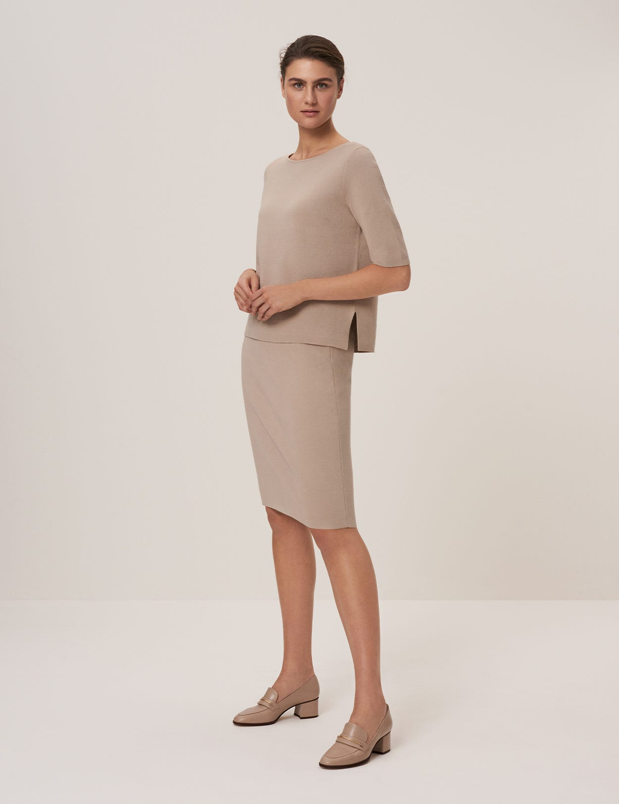 MILANO COTTON PENCIL SKIRT
