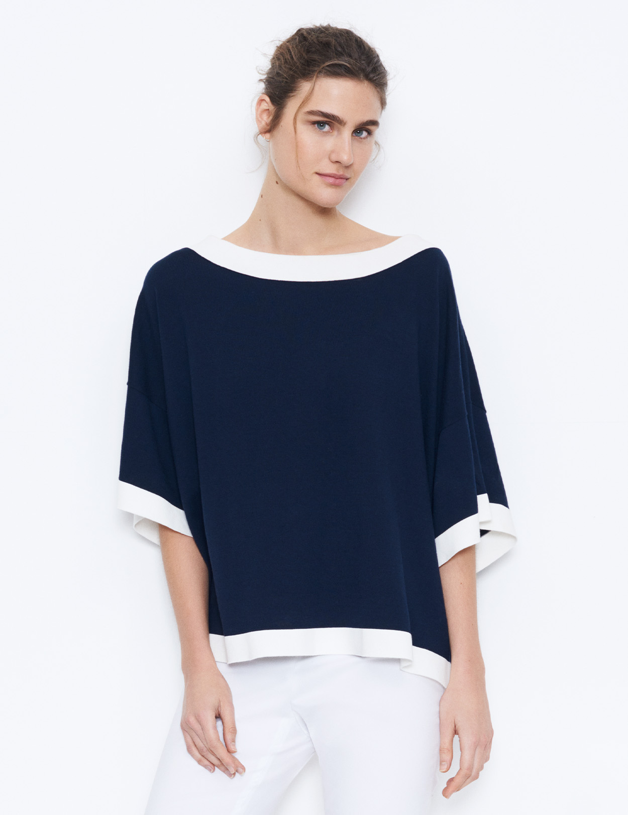 COTTON PONCHO - JUMPER