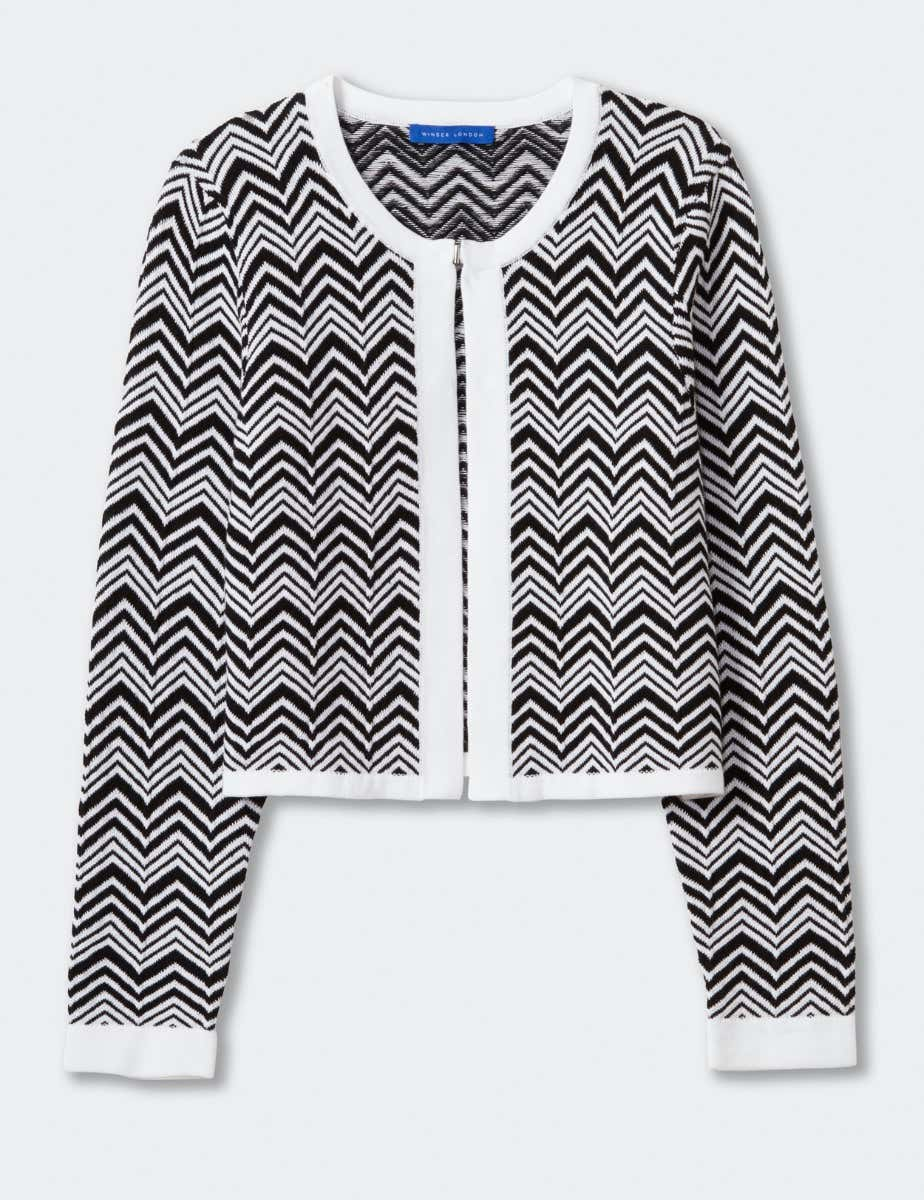 Cotton chevron cardigan - stripe