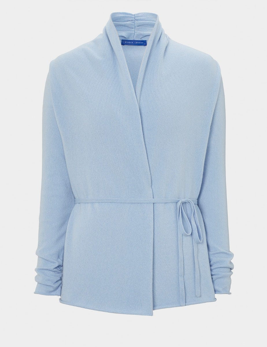 PURE CASHMERE CARDIGAN WITH BELT