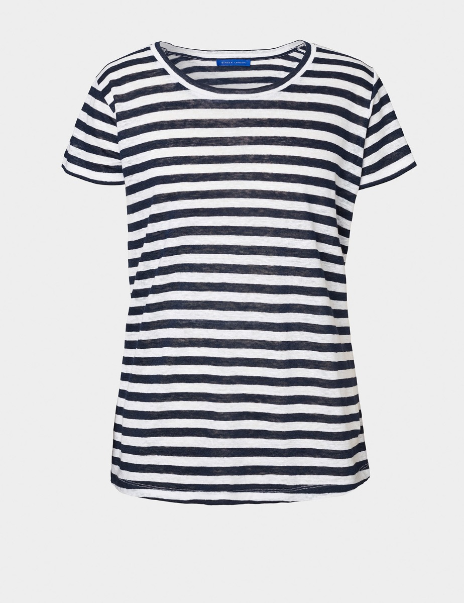 PURE LINEN STRIPED T