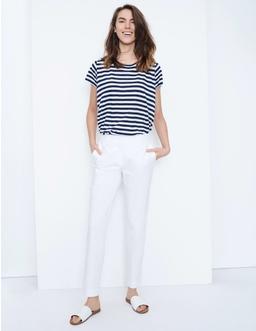 Cotton Twill Capri Trousers