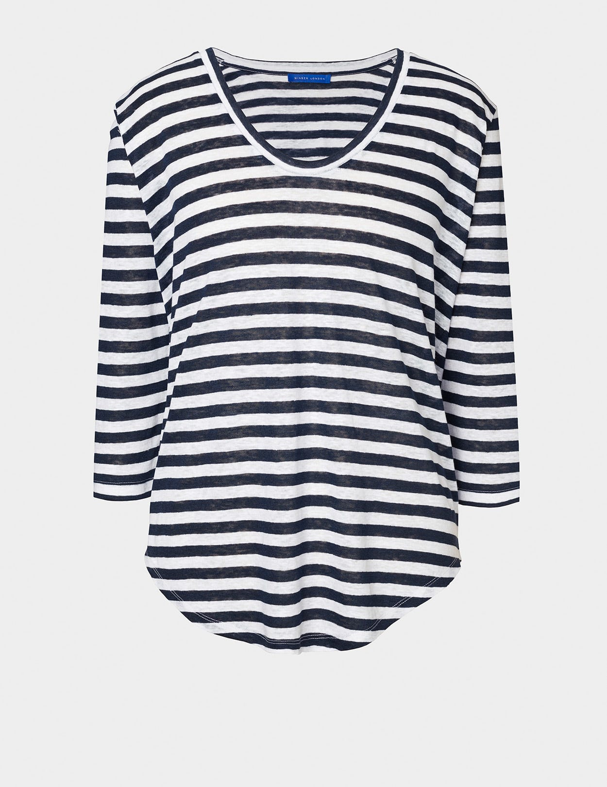 PURE LINEN STRIPED TUNIC