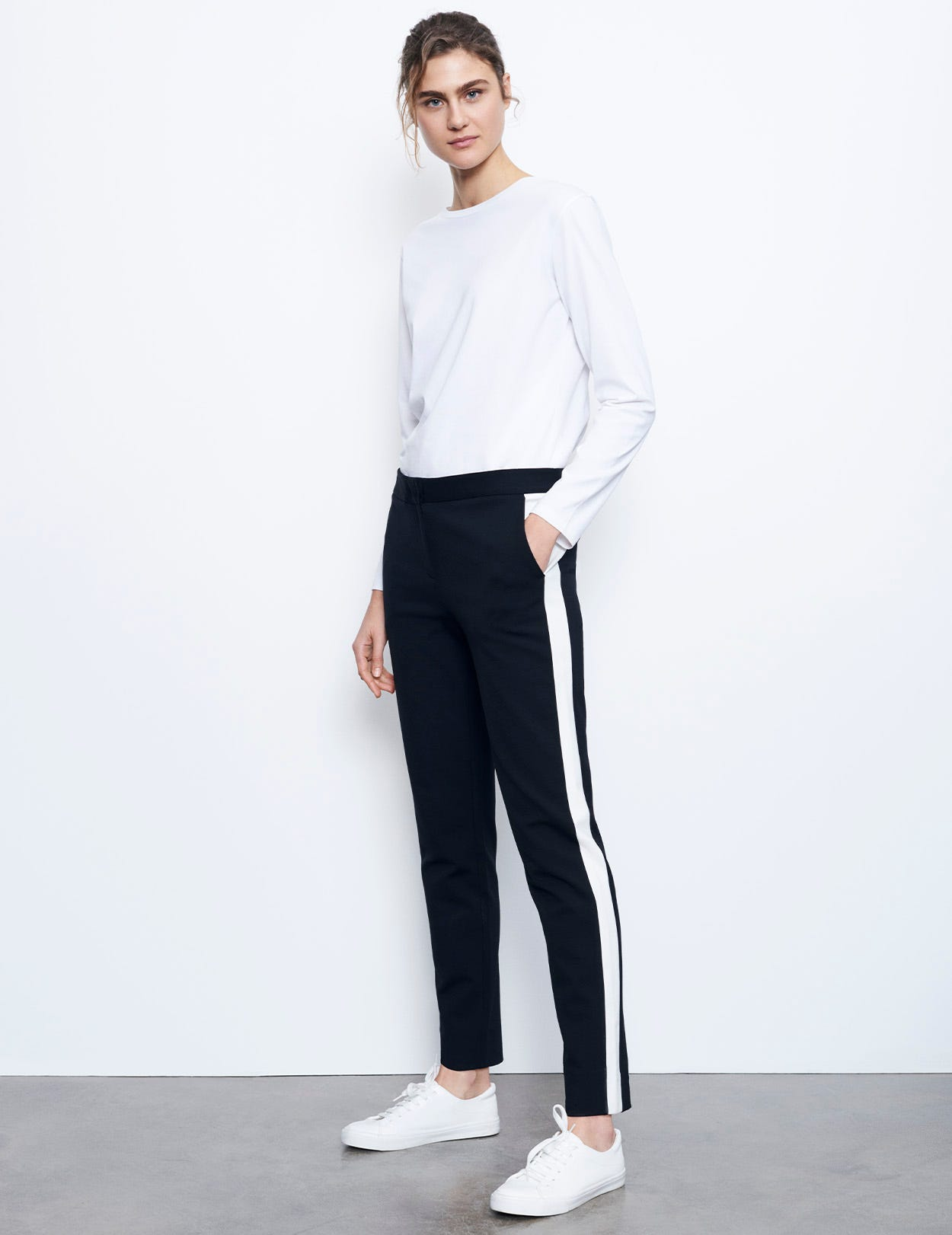 MIRACLE CLASSIC TROUSERS WITH STRIPE
