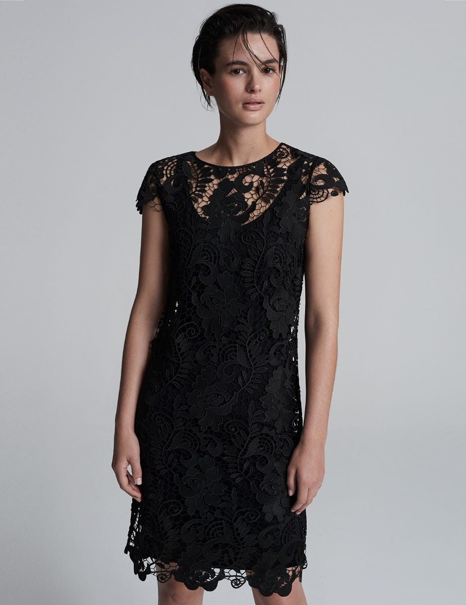 LACE DRESS  and  JERSEY SLIP