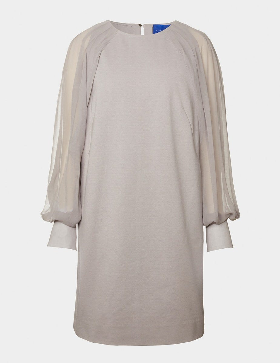CHARLOTTE MIRACLE DRESS WITH SILK BELL SLEEVES