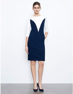 Elizabeth Shift Dress With Sleeves