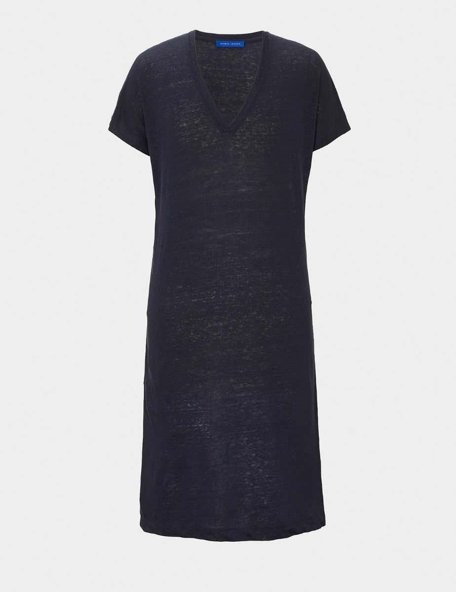 PURE LINEN T-SHIRT DRESS