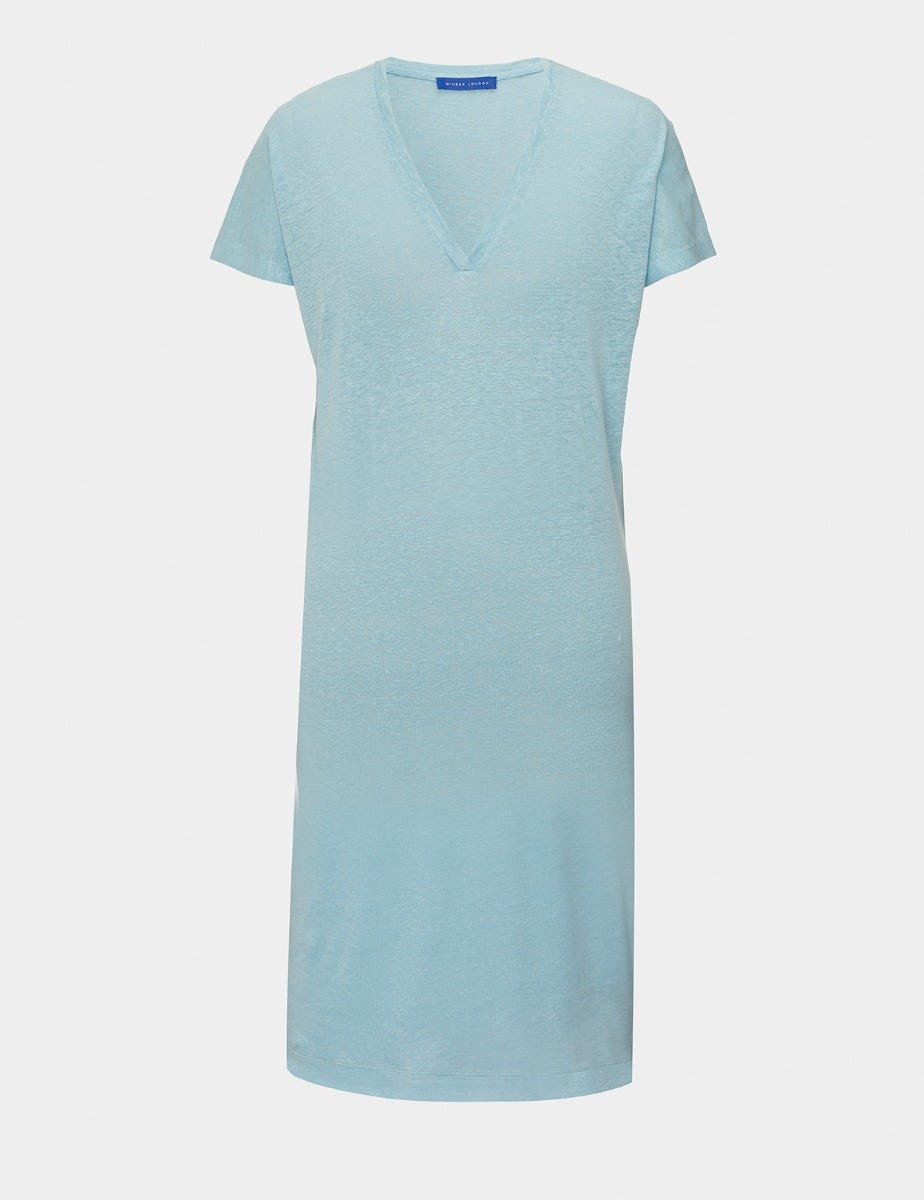 PURE LINEN T-SHIRT DRESS