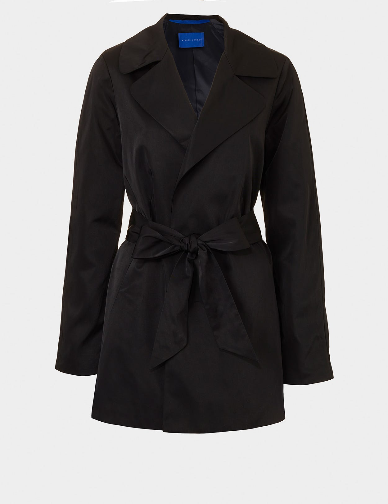 A LINE SHORT TRENCH COAT