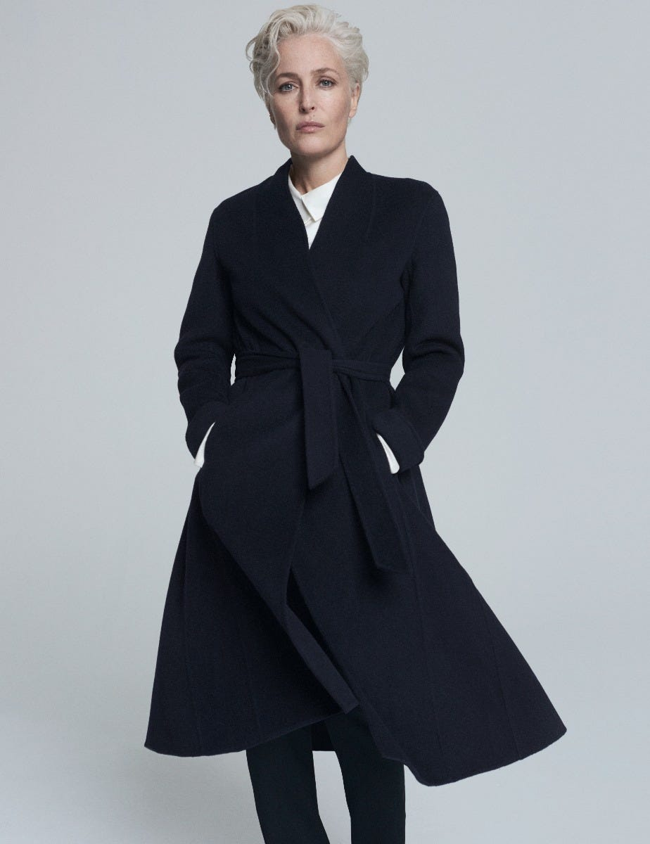 GILLIAN ANDERSON - WOOL SWING COAT