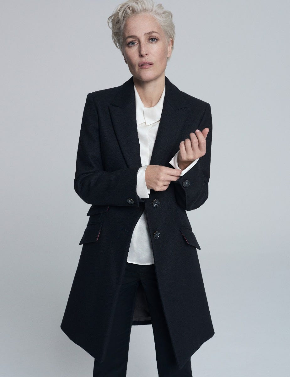 GILLIAN ANDERSON - WOOL TAILORED COAT