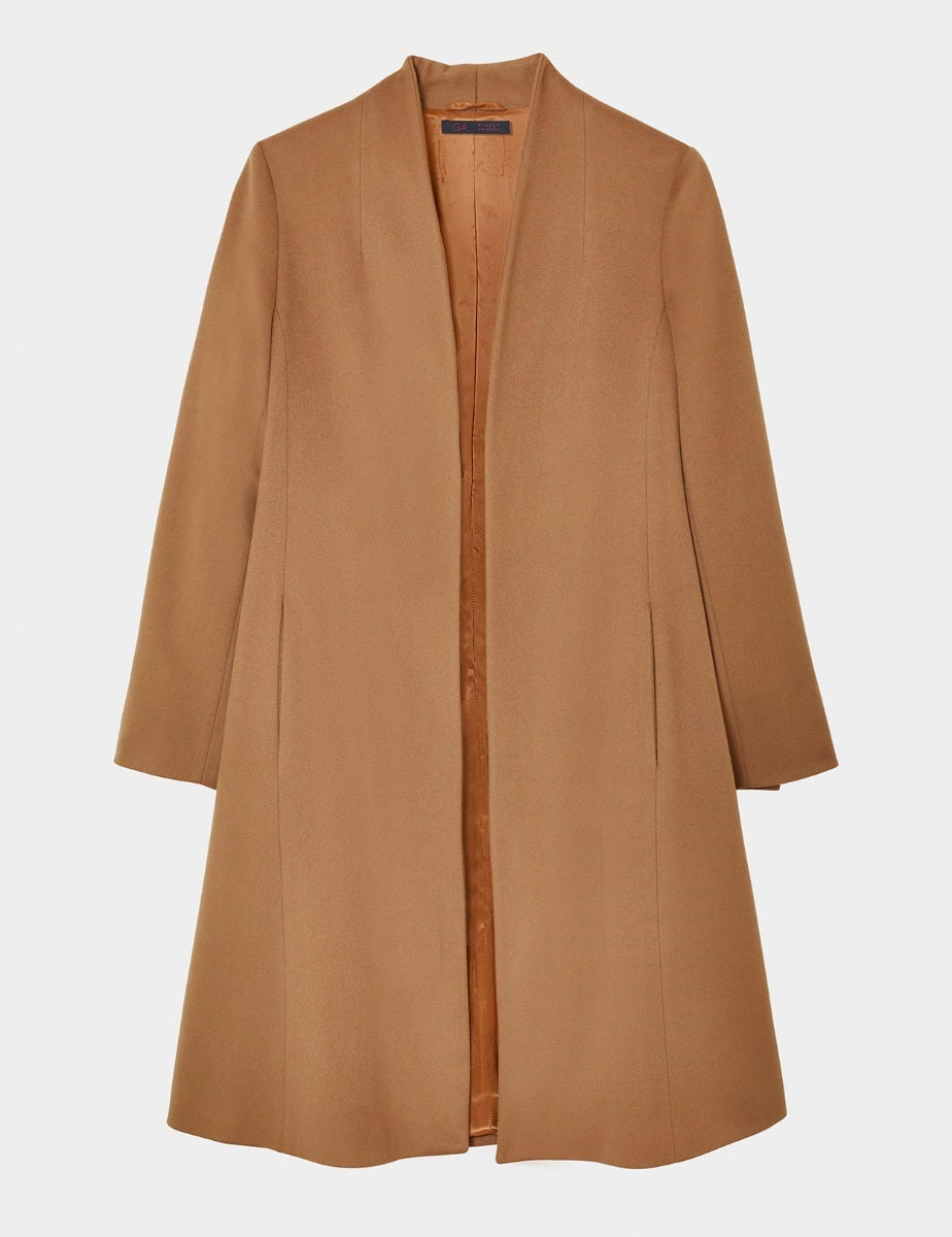 GILLIAN ANDERSON - CAMEL SWING COAT