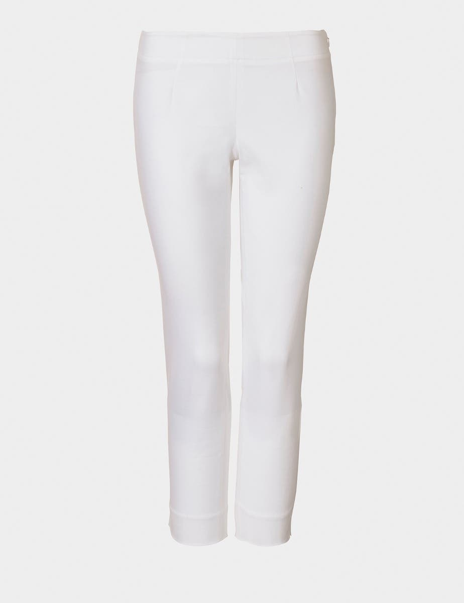 Cotton Twill Capri Trouser