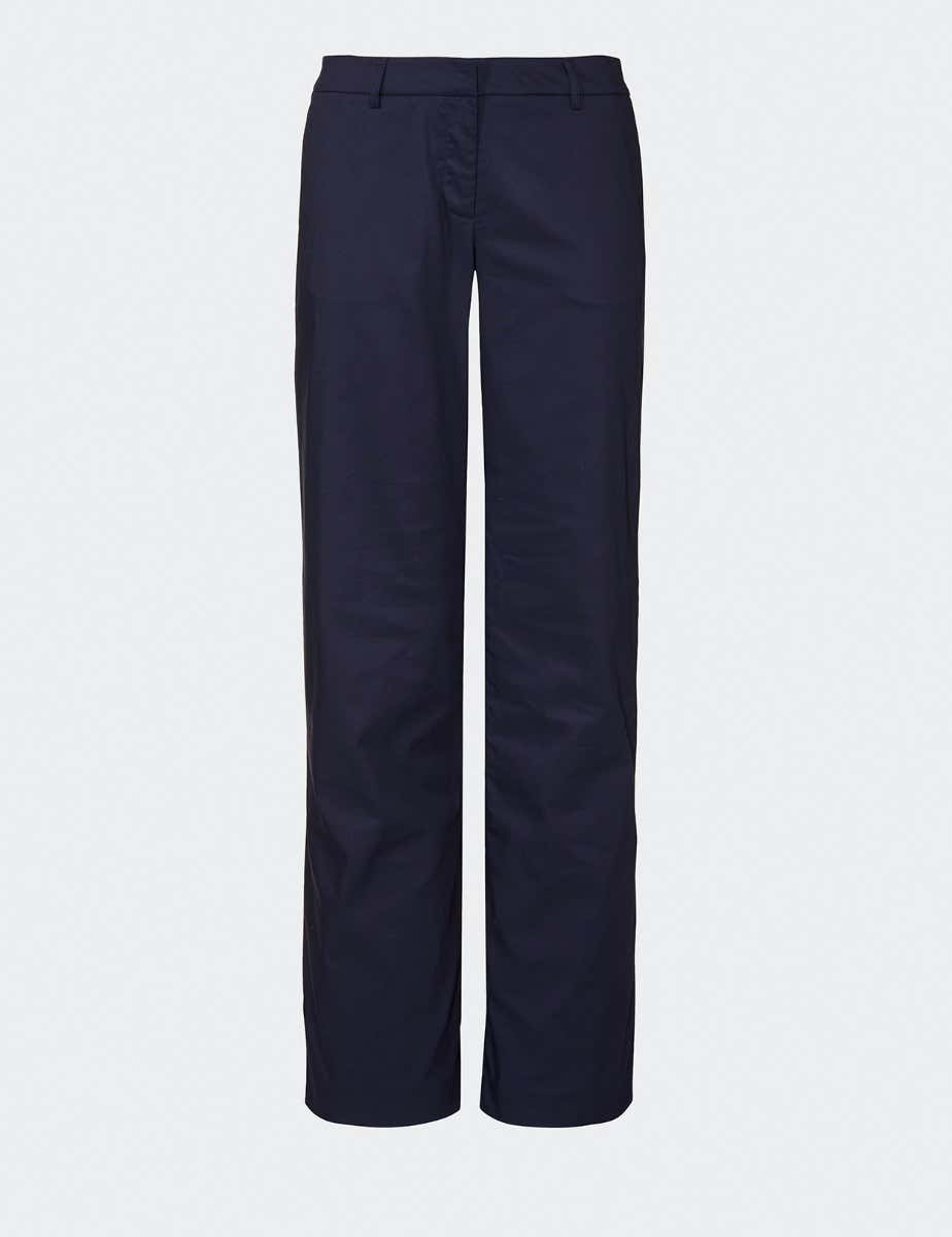 Cotton Twill Boyfriend Trouser