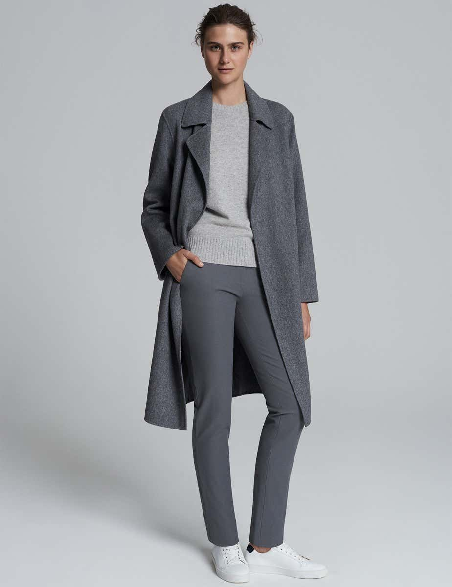 LAUREN GREY WOOL COAT