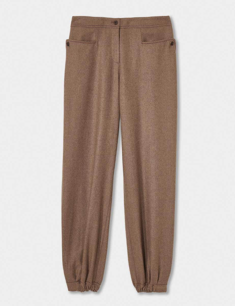 English Herringbone Tweed Trouser