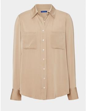The Tilda Silk Shirt - Soft Turquoise
