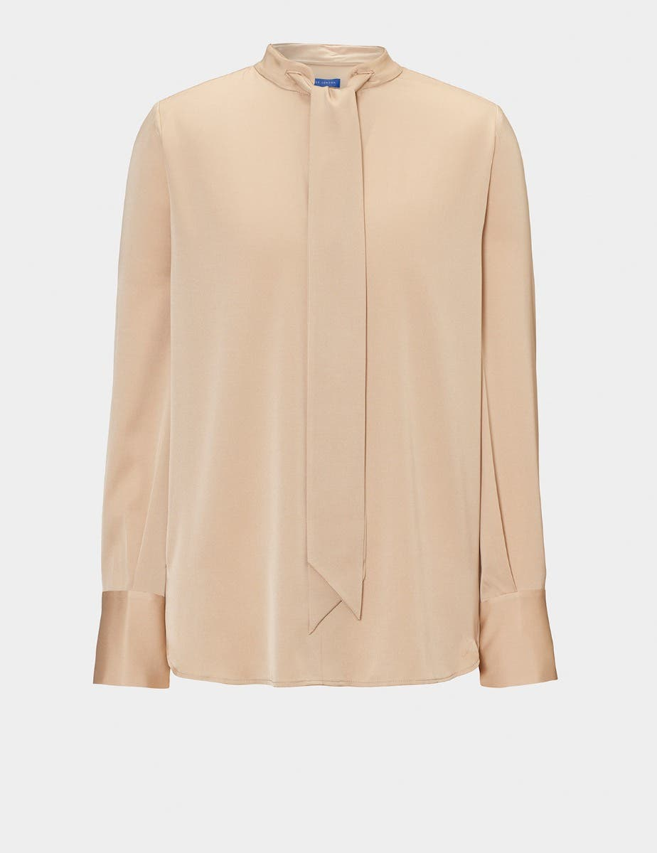 STELLA SILK BLOUSE WITH TIE