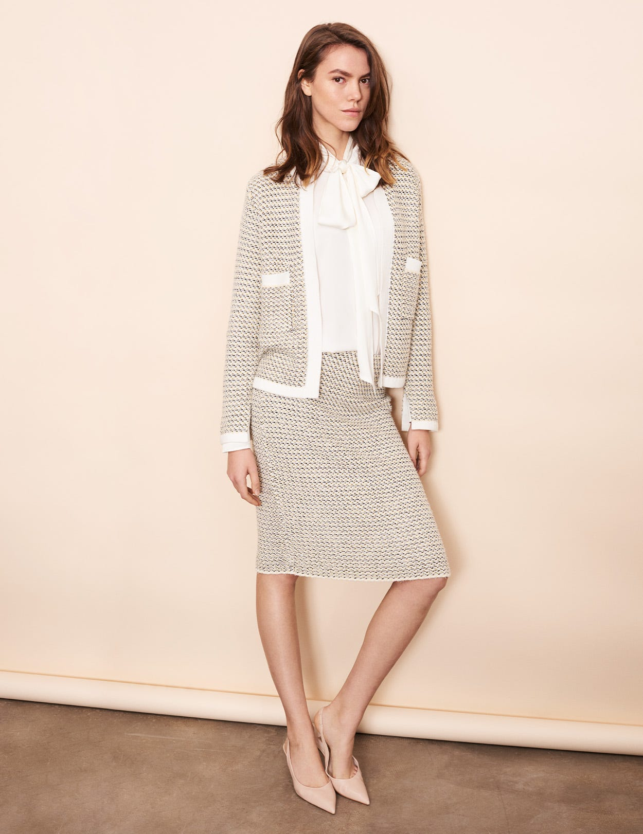 COTTON TWEED SKIRT