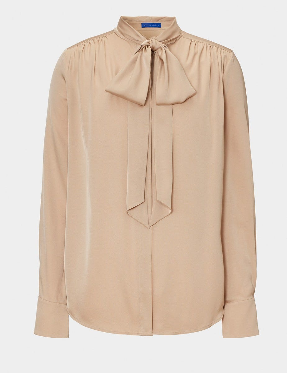 SILK BLOUSE  and  BOW