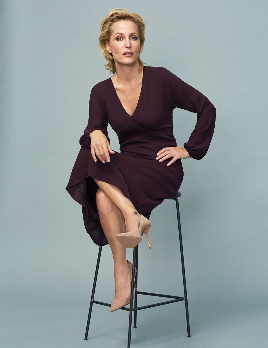 GILLIAN ANDERSON - SILK DRESS